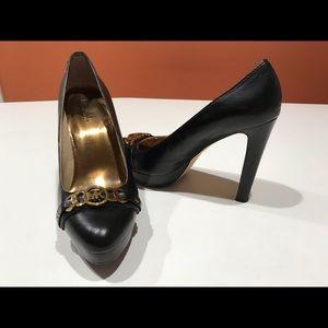 Women's Michael Kors Black All Leather Heels, 10M